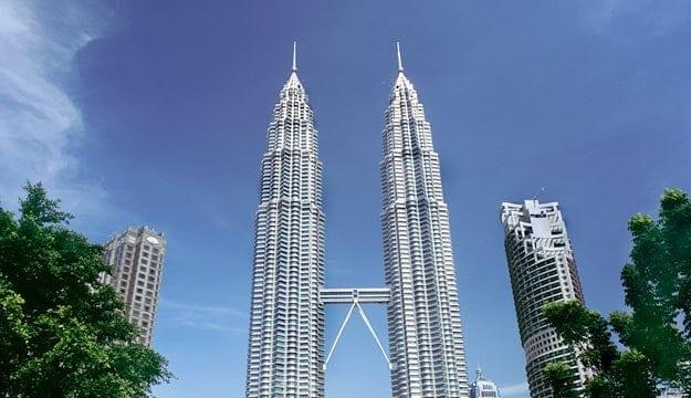 view of kuala lumpur twin towers