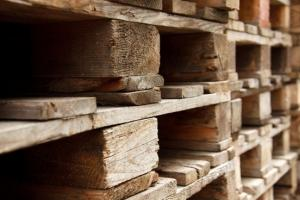 wooden pallet stacked together