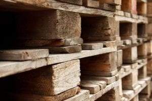 wooden pallet stacked together ISPM-15 Fumigation Services